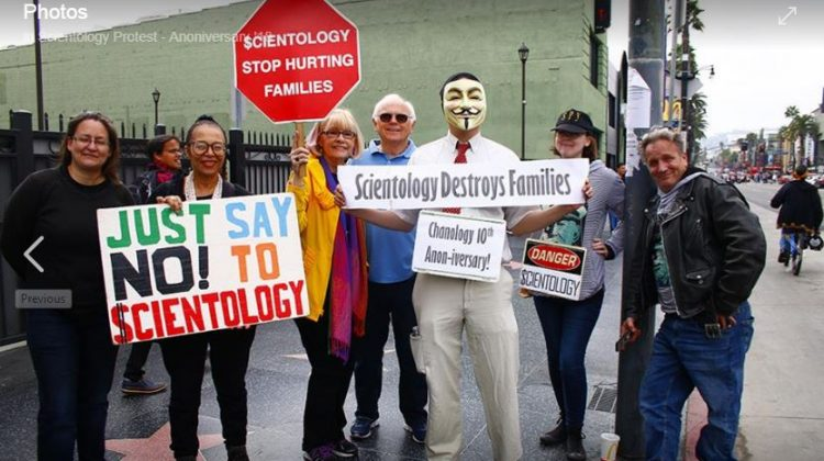 protest the abuses of Scientology