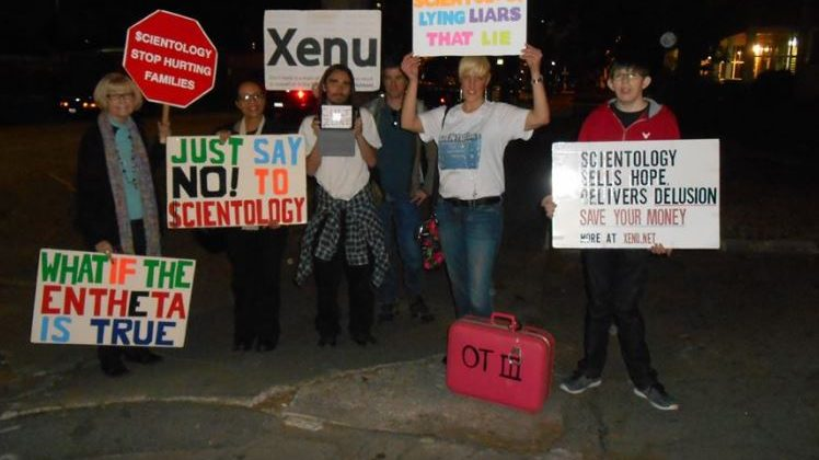 Protesting Scientology Events